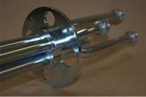 Hier sieht man einen Drehverteileranschluss der mehrere Bearbeitungen zeigt wie z.B.: CNC-Drehen, CNC-Fräsen und Löten
